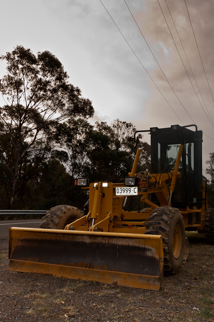 "A bulldozer along the way. It was like:  ""Brad, take some photos of me here and if you like me maybe we can do some more photos on the Sunshine Coast!"""