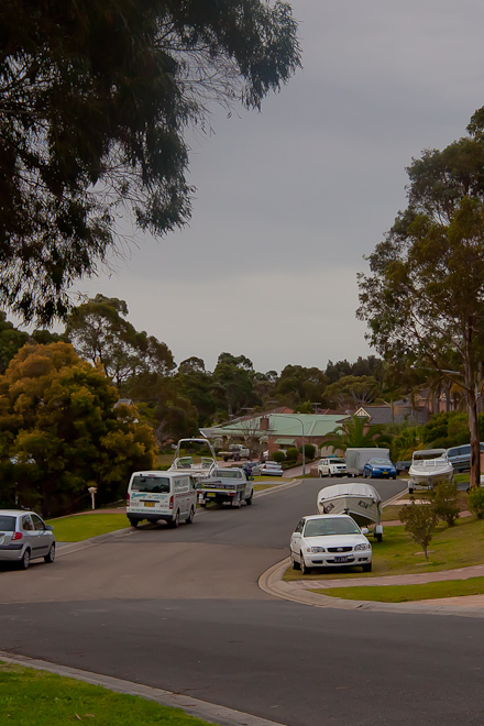 An example of a backstreet in Woronora Heights. This explains where all those four wheel drives, utes and boats that drive past my house every day are coming from.