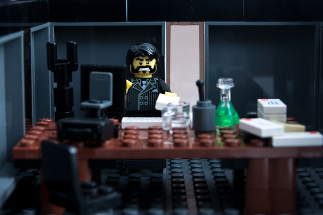Dale, however, knew exactly where Karl would be: in his office, preparing tenders and writing cost-benefit analyses. All the office lights would be in power saving mode, the bins would be unemptied and in a few more days a thick carpet of stubble would cover his cheeks and be creeping down his neck.