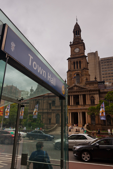 Yesterday I went to Sydney Town Hall.