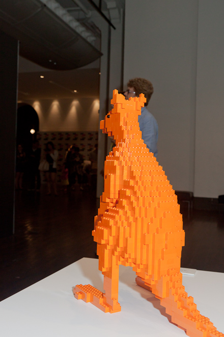 See, look at this piece of art. It is a Lego kangaroo made entirely out of orange. The message behind this piece is obvious, but takes a lot of thinking about.