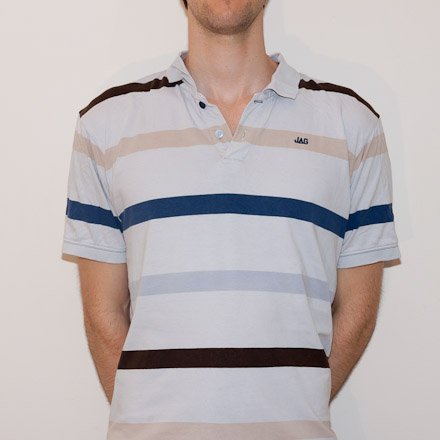 Also in September I bought my Dad a shirt for Father's day. He asked me for my advice on minutely-formal-casual polo-tee hybrids. Remember, this is the guy who thought a Mao Zedong shirt was a fashionable idea. I bought him a shirt from Myer, and bought myself this one at the same time. In hindsight, I should have purchased the same shirt for both of us, so we could be father-son shirt buddies.