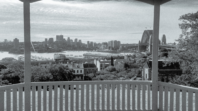 The view from Observatory Hill in Sydney.