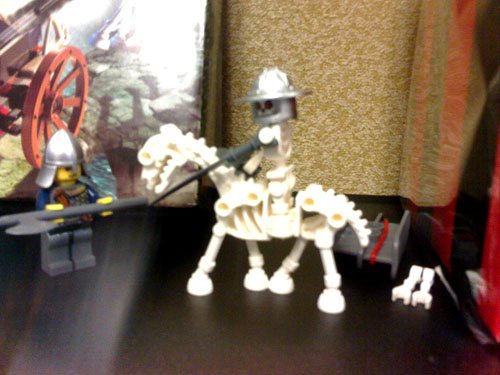 I modded skeleton rider to be half robot half skeleton rider. I love Lego.