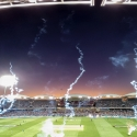 Fireworks over Adelaide Oval after the Strikers win the 2018 Big Bash League Semi-Final.