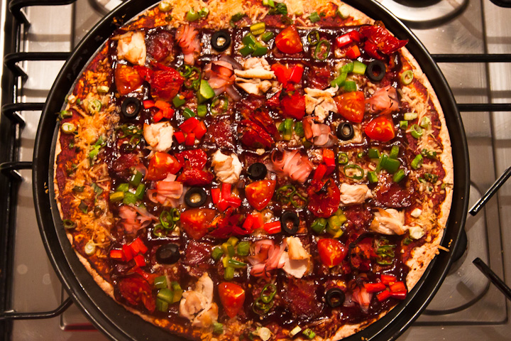 We made a Sudoku pizza. It was delicious to solve.