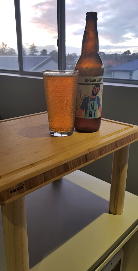 Breakside IPA on the Official Bradism Raised Cutting Board for Tall People